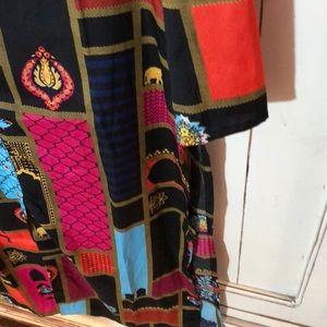 Tops - W silk tunic dress tunic 8 Small sari